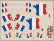 Decals für Flaggen-Dekore für Trailer (Frankreich) (6,2 x 4,7 cm)