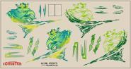 Decals für LKW-Dekor für Scania R (grün) (11,5 x 6,0 cm)