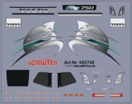 Decals für LKW-Dekor für Volvo FH 2013 (grau) (6,4 x 5,1 cm)