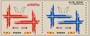 Decals für LKW-Dekor für Volvo FH Flachdach 2013 (rot + blau)