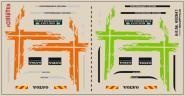 Decals für LKW-Dekor für Volvo GL FH 2013 (orange + grün) (9,8 x 5,0 cm)