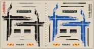Decals für LKW-Dekor für Volvo GL FH 2013 (schwarz + blau) (9,8 x 5,0 cm)