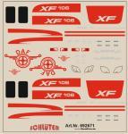 Decals für LKW-Details für DAF XF 106 (rot) (6 x 6 cm)