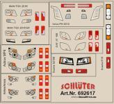 Decals für LKW-Details für verschiedene Zugm. (4,8 x 4,3 cm)