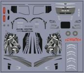 8,5 x 5,0 cm Decals für Truckdekor für MAN TGX GX