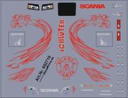 Decals für Truckdekor für Scania CS (rot) (6,5 x 5,0 cm)