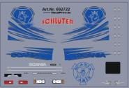 Decals für Truckdekor für Scania R (blau) (6,8 x 4,6 cm)
