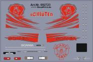 Decals für Truckdekor für Scania R (rot) (6,8 x 4,6 cm)
