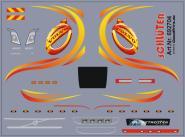 Decals für Truckdekor für Volvo (gelb/rot) (6,8 x 5,0 cm)