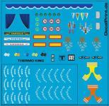 Decals LKW-Dekor - Ausschmückungsteile, blau (6 x 6 cm)