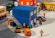 Faller 4 Baucontainer, blau 130134