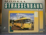H & P 1:87 STRASSENBAHN TATRA T4 Fahrschule Dresden gelb