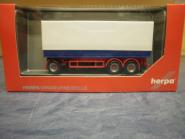 Herpa HZ Planen-Anhänger blau/weiß 3achs