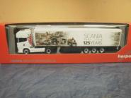 Herpa LKW Scania 164 Topl./Aerop. Schubboden-SZ 125 Jahre Scania 306454