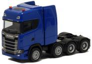Herpa LKW Scania CS 20 HD Schwerlast-SZM blau
