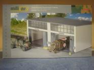 Herpa Military Bausatz Gebäudebausatz Reparaturhalle groß, 2-ständig