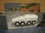 Herpa Minitanks GTK Boxer Transportfahrzeug weiß DRK 745338