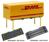 Herpa WK 20ft WPr Wechselpritschen DHL 7.5m m.Bodenplatten alt und neu