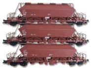 Kühn 3tlg. Güterwagen-Set Kaliwagen Uaoos 9331 DR Ep. IV