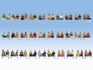 Noch Mega-Spar-Set Sitzende Passagiere 60 Figuren, ohne Beine, ohne Bänke 16072