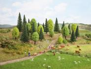 Noch Mischwald, 25 Bäume, 3,5 - 9 cm hoch 32811