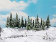 Noch Schneetannen 16 Stück, 10 -14 cm 24681