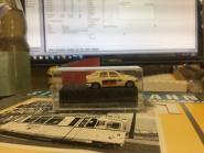 Praline Ford Escort Tag der Widervereinigung DDR - BRD