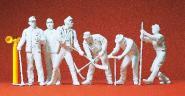 Preiser Gleisbauarbeiter. 6 Figuren 45182