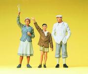 Preiser Figuren Winkende am Bahnsteig