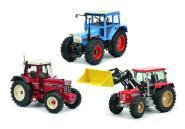 Schuco 1:32 Set Traktorlegenden IHC 1255,Eicher 3125, Schlüter Compact 1250 TV6