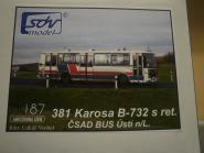 SDV Bus Bausatz Stadtbus Karosa B-732 s.ret CSAD USTI NAD LA
