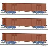 Tillig Güterwagenset DR, 3 off.Güterwagen Eas 5948 mit
