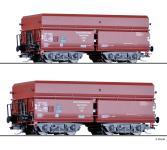 Tillig Güterwagenset Erzzug 2 DRG, 2 Selbstentladewagen OOt Saarbrücken, Ep. II