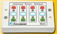 Viessmann Universal-Tasten-Stellpult, rückmeldefähig, 2-begriffig 5549
