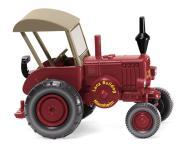 Wiking Traktor Lanz Bulldog mit Dach braunrot 088009