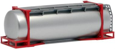 AWM SZ 26 ft.Tank-Container silber (rote Streben)