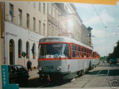 H & P 1:87 STRASSENBAHN TATRA T4/B4 Havag Halle
