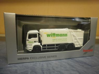 Herpa LKW MAN TG-S M Pressmüllwagen Wittmann 936644