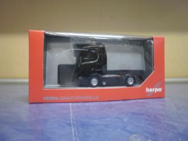 Herpa LKW Scania CS 20 HD/Aerop. V8 SZM schwarz mit Sonnenblende 307468