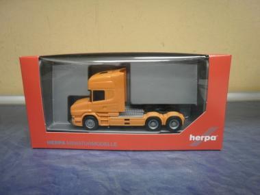 Herpa LKW Scania Hauber Topl/Aerop SZM 3-achs orange 151726-006