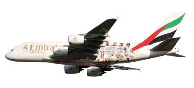 Herpa Snap Wings 1:250 Airbus A 380-800 Emirates Real Madrid