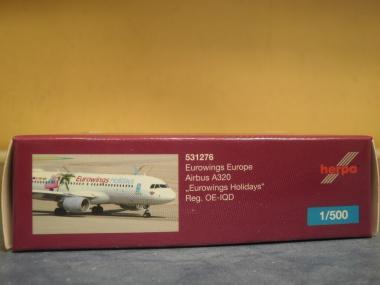 Herpa Wings 1:500 Airbus A 320 Eurowings Holydays 531276