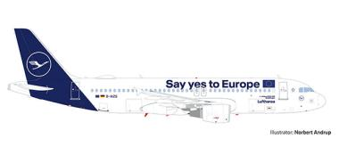 Herpa Wings 1:500 Airbus A 320 Lufthansa Yes to Europe 533614