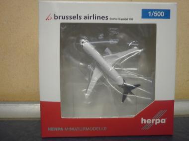Herpa Wings 1:500 Sukhoi Superjet 100 Brussels Airlines 530774