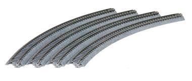 Kato Gleis gebogen R 381-30° 4 Stück im Blister