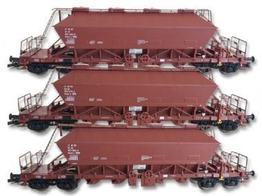 Kühn 3tlg. Güterwagen-Set Kaliwagen Uaoos 9331 DR Ep. IV 2.BN