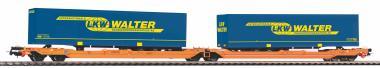 PIKO Taschenwagen T3000e Wascosa VI zwei Auflieger LKW Walter 54777