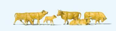Preiser Kühe, hellbraun 10147