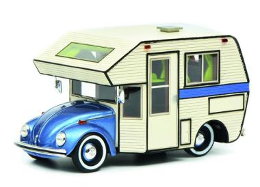 Schuco 1:43 VW Käfer Motorhome, blau 450889900
