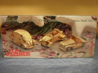 Schuco Piccolo 1:87 Set (Isetta,Kleinschnittger,Messerschmidt) Frohe Weihnachten